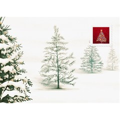 Christmas Tree 7x5 3d Card By Lil    Heart Bottom 3d Greeting Card (7x5)   7d9rehsmgxuz   Www Artscow Com Back