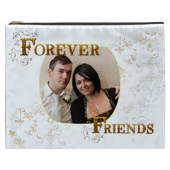 Forever Friends  Xxxl  Gift Cosmetics Bag By Catvinnat   Cosmetic Bag (xxxl)   0ekia8boteat   Www Artscow Com Front