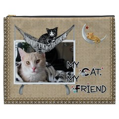 Cat Xxxl Cosmetic Bag By Lil    Cosmetic Bag (xxxl)   Y3l6t2ods0vt   Www Artscow Com Front