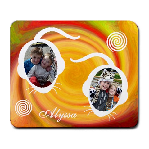 Large Mousepad   Red & Orange Swirl By Lmw   Large Mousepad   Thg32h121crn   Www Artscow Com Front