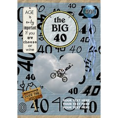 40th Birthday 7x5 3d Card By Lil Inside