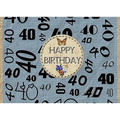 40th Birthday 7x5 3d Card By Lil Back