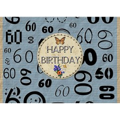 60th Birthday 7x5 3d Card By Lil    Heart Bottom 3d Greeting Card (7x5)   Ckj1rsznbfo8   Www Artscow Com Back