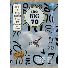 70th Birthday 7x5 3d Card By Lil    Heart Bottom 3d Greeting Card (7x5)   Sg46pu5kjuu0   Www Artscow Com Inside