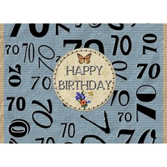 70th Birthday 7x5 3d Card By Lil    Heart Bottom 3d Greeting Card (7x5)   Sg46pu5kjuu0   Www Artscow Com Back