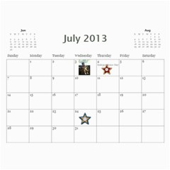 2013 By Mckel   Wall Calendar 11  X 8 5  (12 Months)   54zxobgvjan3   Www Artscow Com Jul 2013