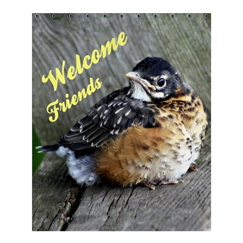 Welcome Friends By Patricia W   Shower Curtain 60  X 72  (medium)   X9eaet4qbngq   Www Artscow Com 54.25 x65.71 Curtain