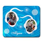 Large Mousepad - Blue Swirls