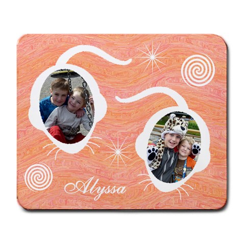 Large Mousepad   Orange & Pink  By Lmw   Large Mousepad   M3m54izudu1u   Www Artscow Com Front