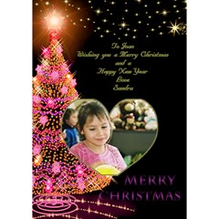My Pink Merry Christmas 3d Card By Deborah Inside