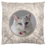 Coffee and Cream Large Cushion Case - Large Cushion Case (One Side)