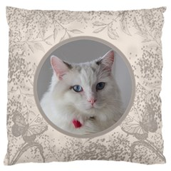 Coffee And Cream Large Cushion Case (2 Sided) By Deborah   Large Cushion Case (two Sides)   3p8ah5td7m4b   Www Artscow Com Back