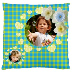 My Family Large Cushion Case (2 Sided) By Deborah   Large Cushion Case (two Sides)   Qu8tslvevs8x   Www Artscow Com Front