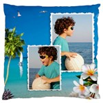 Beach House Large Cushion Case - Large Cushion Case (One Side)
