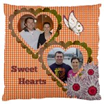 Sweethearts Large Cushion Case (2 sided) - Large Cushion Case (Two Sides)