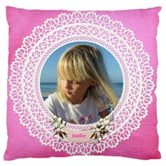 Lace Large Cushion Case (2 Sided) By Deborah   Large Cushion Case (two Sides)   5b128k4m041p   Www Artscow Com Front