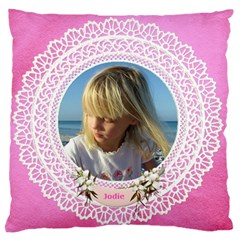 Lace Large Cushion Case (2 Sided) By Deborah   Large Cushion Case (two Sides)   5b128k4m041p   Www Artscow Com Back
