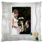 Our Wedding Large Cushion Case - Large Cushion Case (One Side)