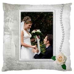 Our Wedding Large Cushion Case (2 Sided) By Deborah   Large Cushion Case (two Sides)   V5m965irlubb   Www Artscow Com Front