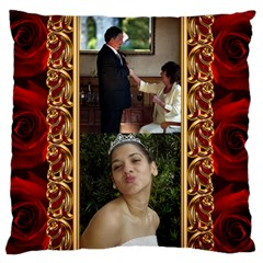 My Rose Large Cushion Case (2 Sided) By Deborah   Large Cushion Case (two Sides)   X6c8osi7gs5d   Www Artscow Com Front