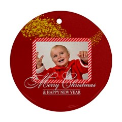Xmas By Man   Round Ornament (two Sides)   Saboij41aba1   Www Artscow Com Back