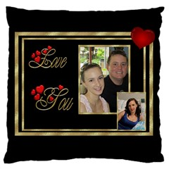 Love You Large Cushion Case (2 Sided) By Deborah   Large Cushion Case (two Sides)   Epd0hzlo55jt   Www Artscow Com Back