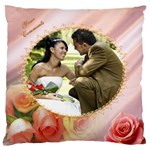 Love you Large Cushion Case - Large Cushion Case (One Side)