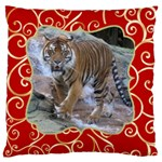Red and Gold Large Cushion Case - Large Cushion Case (One Side)