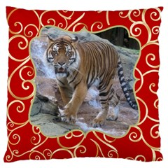 Red And Gold Large Cushion Case (2 Sided) By Deborah   Large Cushion Case (two Sides)   Ctv5rw0kf2xw   Www Artscow Com Front