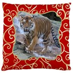Red and Gold Large Cushion Case (2 sided) - Large Cushion Case (Two Sides)