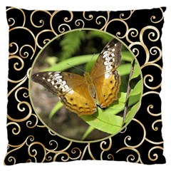 Black And Gold Large Cushion Case (2 Sided) By Deborah   Large Cushion Case (two Sides)   4rengzui1nsj   Www Artscow Com Front