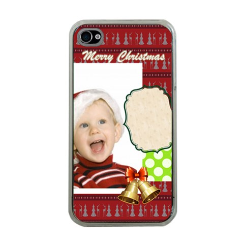 Xmas By Man   Iphone 4 Case (clear)   Afx4sj3m2b71   Www Artscow Com Front