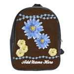 Brown/Blue Personalized Backpack - School Bag (Large)