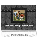 Black Elegance Custom Photo Calendar - Wall Calendar 11  x 8.5  (12-Months)