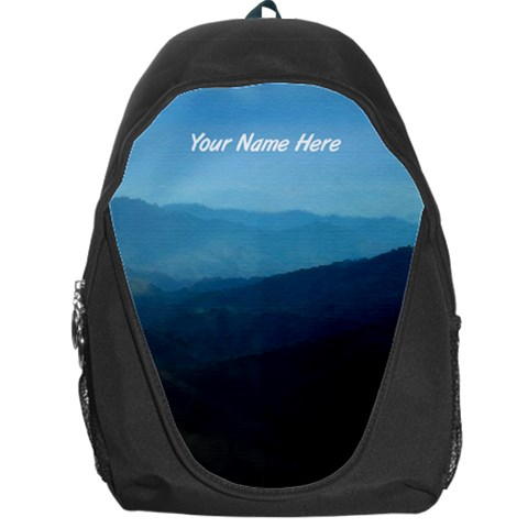 Mountain Scene Personalized Name Backpack Rucksack By Angela   Backpack Bag   5p9wlm1fm6lr   Www Artscow Com Front