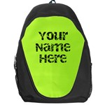 Chartreuse Green Personalized Name Backpack Rucksack - Backpack Bag
