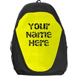 Bright Yellow Personalized Name Backpack Rucksack - Backpack Bag