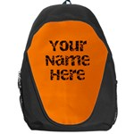 Bright Orange Personalized Name Backpack Rucksack - Backpack Bag