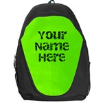Neon Green Personalized Name Backpack Rucksack - Backpack Bag