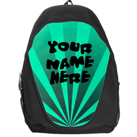 Bright Aqua Personalized Name Backpack Rucksack By Angela   Backpack Bag   P63ukt1w5uzi   Www Artscow Com Front
