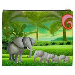 Elephants  Xxxl Cosmetic Bag By Catvinnat   Cosmetic Bag (xxxl)   Mrclfpd8h5e0   Www Artscow Com Back