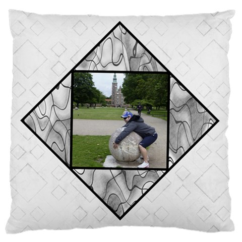 Black And White Large Cushion Case By Deborah   Large Cushion Case (one Side)   H1h3p7dmtebx   Www Artscow Com Front