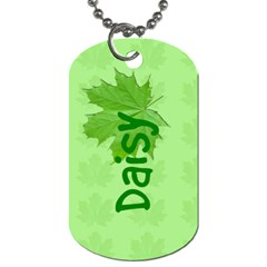 Guiding Dog Tag   Pathfinders Daisy By Patricia W   Dog Tag (two Sides)   J6y9eavee8qx   Www Artscow Com Front