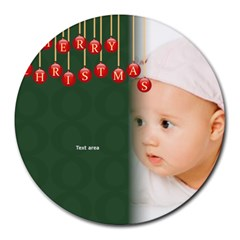 Xmas By Wood Johnson   Collage Round Mousepad   Foaa0pvq0ce2   Www Artscow Com 8 x8  Round Mousepad - 2
