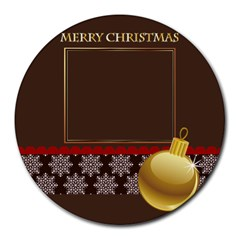 Xmas By Wood Johnson   Collage Round Mousepad   Foaa0pvq0ce2   Www Artscow Com 8 x8 Round Mousepad - 14