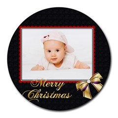Xmas By Wood Johnson   Collage Round Mousepad   Foaa0pvq0ce2   Www Artscow Com 8 x8 Round Mousepad - 4