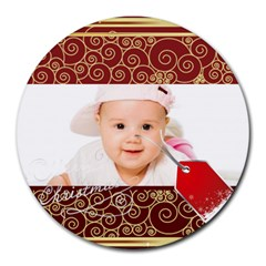 Xmas By Wood Johnson   Collage Round Mousepad   Foaa0pvq0ce2   Www Artscow Com 8 x8  Round Mousepad - 5