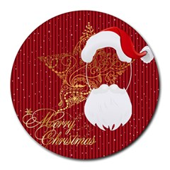 Xmas By Wood Johnson   Collage Round Mousepad   Foaa0pvq0ce2   Www Artscow Com 8 x8  Round Mousepad - 8