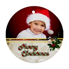 Merry Christmas Ornament (2 Sided) By Deborah   Round Ornament (two Sides)   Sbupuk04mwm3   Www Artscow Com Front