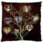 Family Tree Large Cushion Case - Large Cushion Case (One Side)